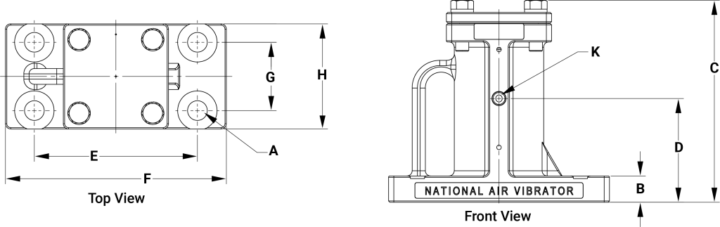 BH Vibrator Size Diagram