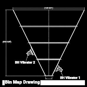 Bin Map Drawing 1 1 hopper vibrator,bin vibrator,air vibrator,hopper vibration system,BH Vibrator
