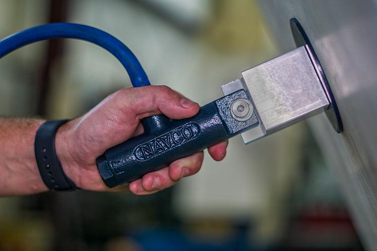 MagneVibe and Ferrous Pad for plastic hopper