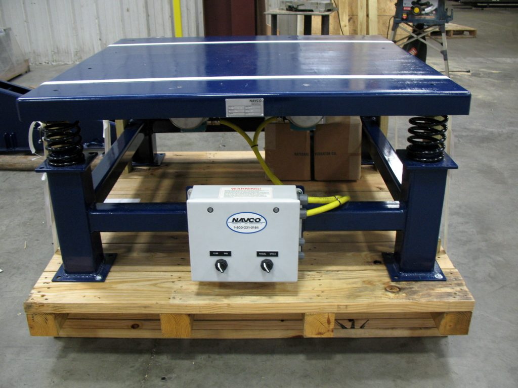 Dual Drive Electric Vibrating Table with integrated controls.